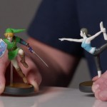 Amiibo Link vs Wii Fit Trainer Girl Figure Closeup Wii U Nintendo