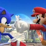 Super Smash Bros. 4 Sonic Catches Mario's Fist Wii U Gameplay Screenshot E3 2014