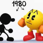 Mr Game and Watch vs Pacman Super Smash Bros. 4 Wii U 3DS Official Artwork E3 2014