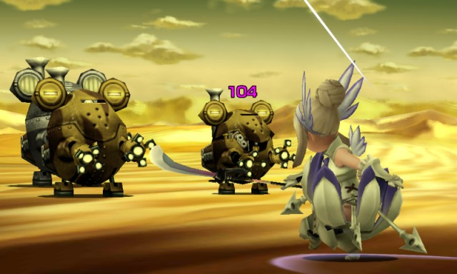Bravely Second Battle Gameplay Screenshot 3DS