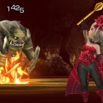 Bravely Second Lady In Red Dress Gameplay Screenshot 3DS