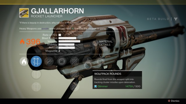 Destiny Gjallarhorn Exotic rocket launcher
