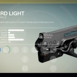 Destiny Hard Light Exotic auto rifle