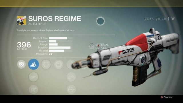 Destiny Suros Regime Exotic auto rifle