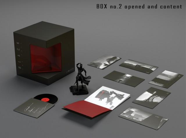 Black The Fall Collector's Edition Contents Figure Soundtrack Postcards Artbook Box