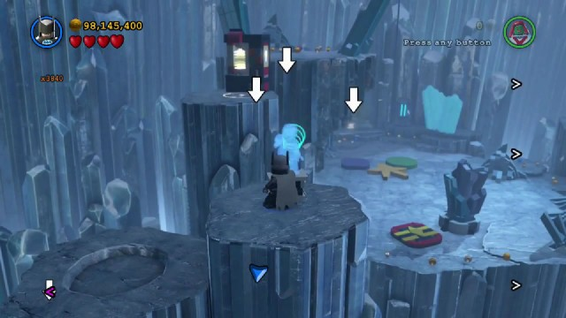 Lego Batman 3 Red Brick 15: Collect Ghost Studs Location