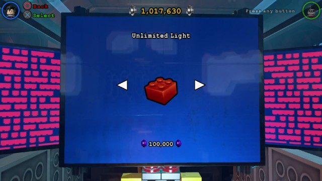 Lego Batman 3 Red Brick 18: Unlimited Light Location
