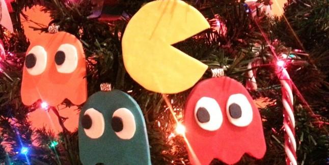Pac-Man Christmas Wallpaper