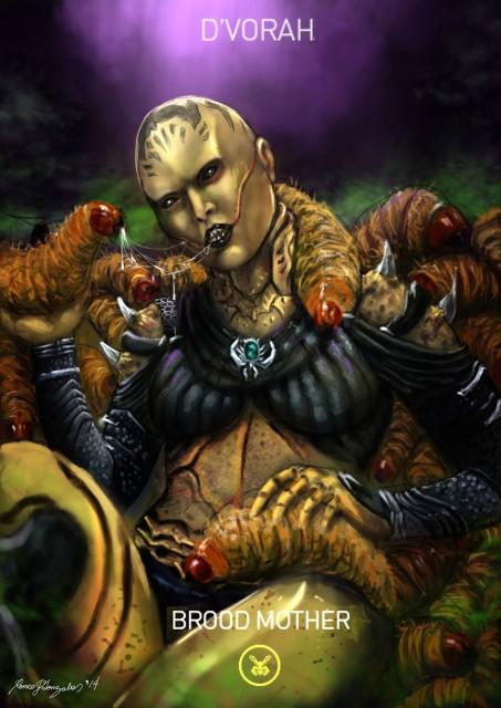 Mortal Kombat X Wallpaper Dvorah Brood Mother Variation Fanart by Romeo J Gonzales