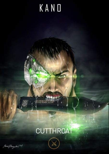 Mortal Kombat X Wallpaper Kano Cutthroat Fanart by Grapiqkad