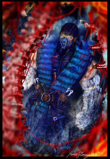 Mortal Kombat X Wallpaper Subzero Hole In Chest Fatality Fanart by Grapiqkad