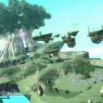 Rodea: Sky Soldier Gameplay Screenshot Grasslands and Floating Platforms WiiU 3DS