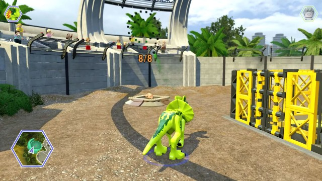 Lego Jurassic World Red Brick 7: Minikit Detector Location