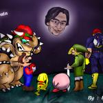 RIP Iwata Fanart Floating Head by BaselZmediacenter