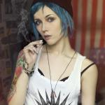 Chloe Smoking Life Is Strange Cosplay by Helen Stifler of Russia