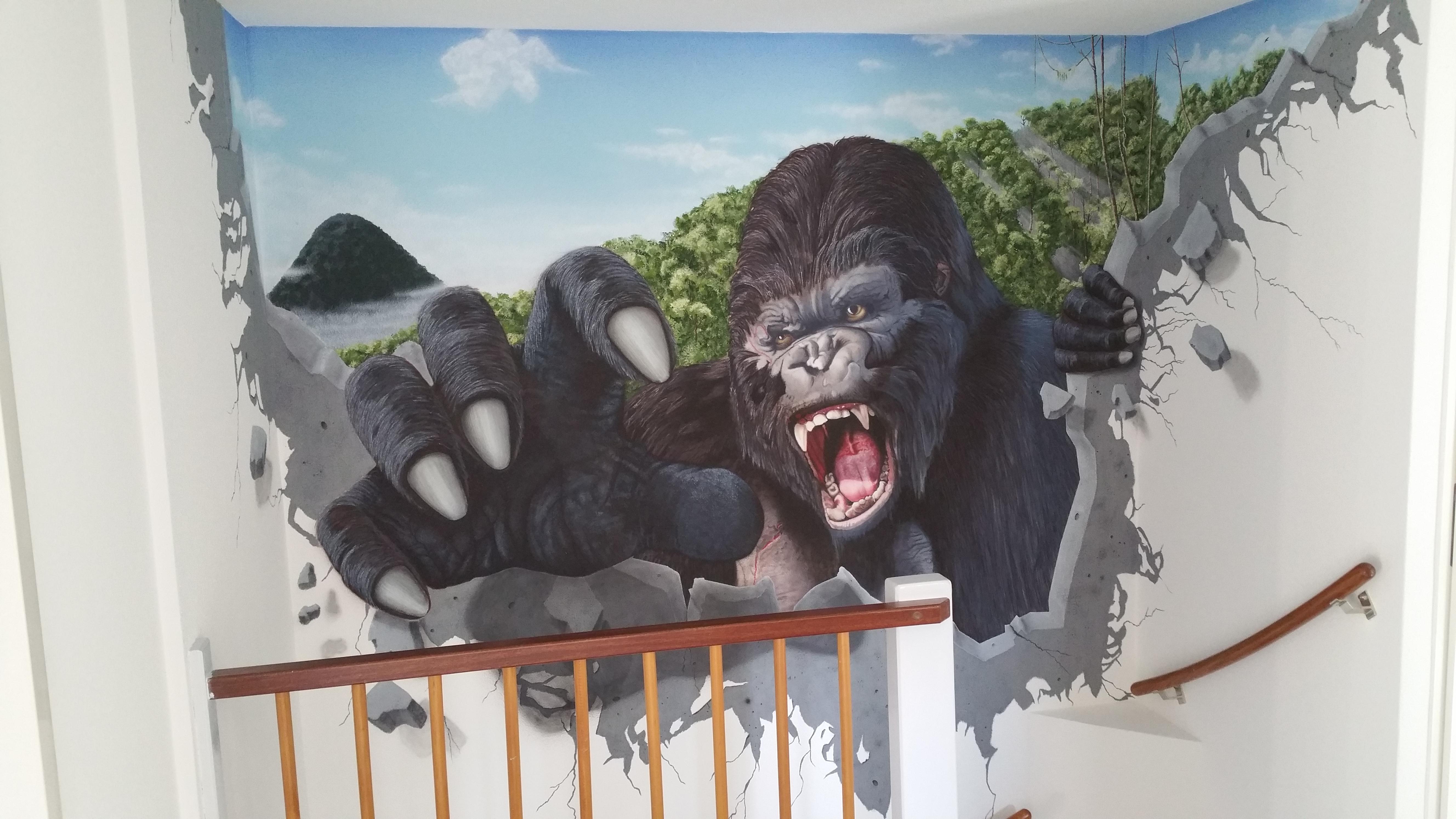 King Kong Wall Mural Photo Part 88