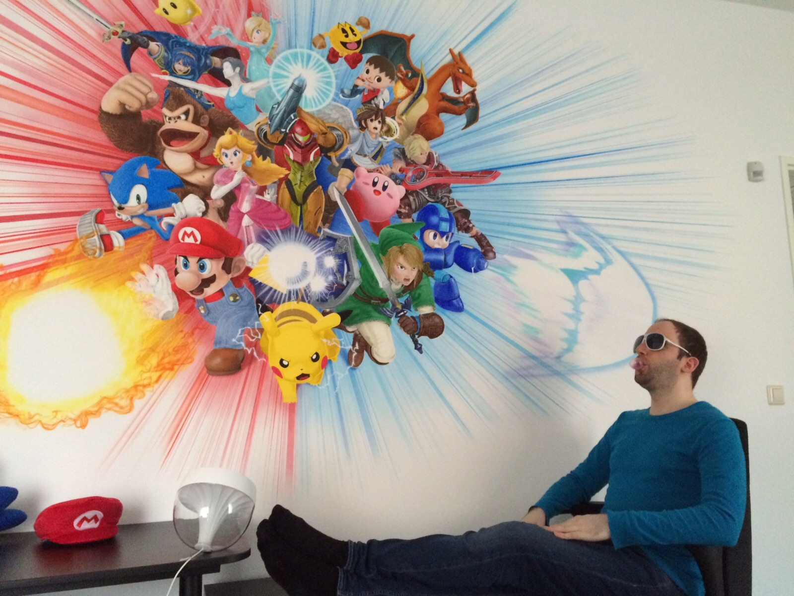 my new super smash bros airbrushed wall mural new super smash bros wall mural photo
