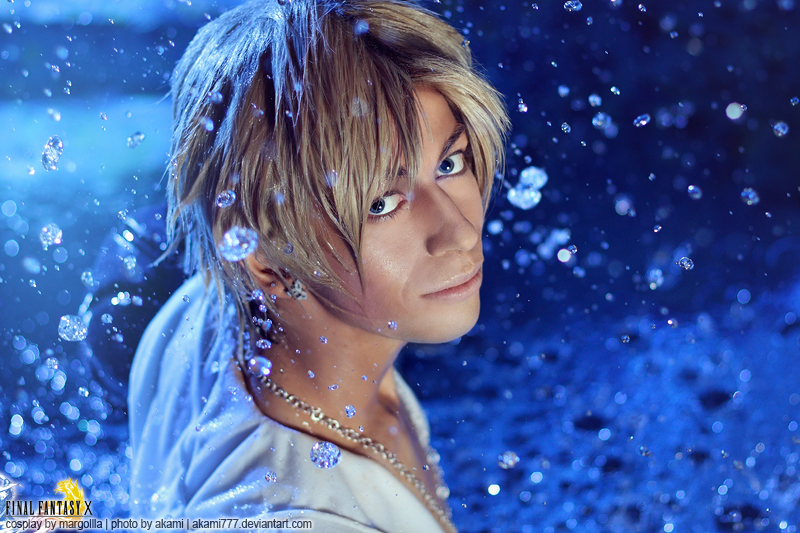Tidus Cosplay Droplets of Sexappeal Final Fantasy X Starring Margoiiia by Akami777