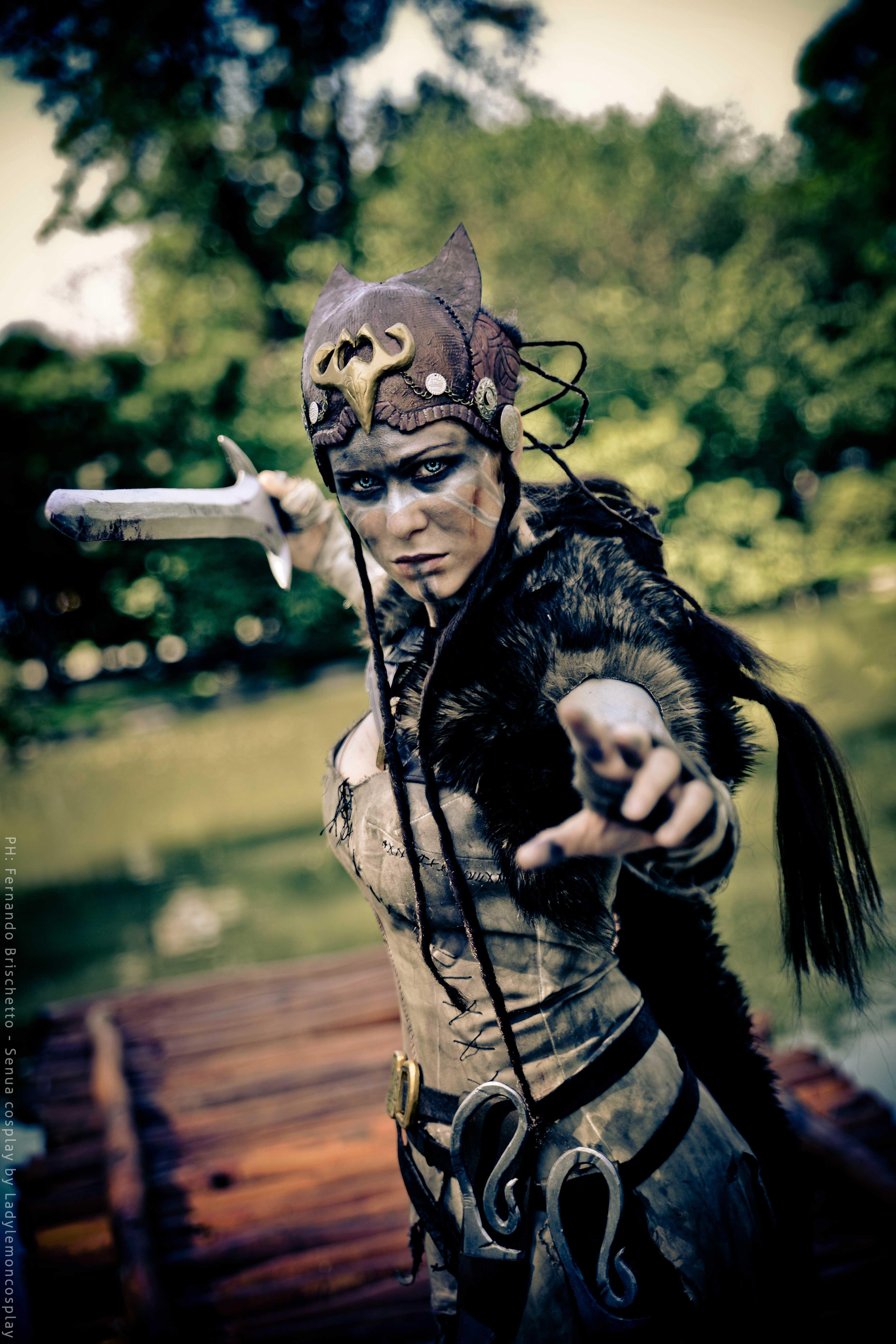 Hellblade Senua Cosplay Ready to Strike Starring LadyLemon