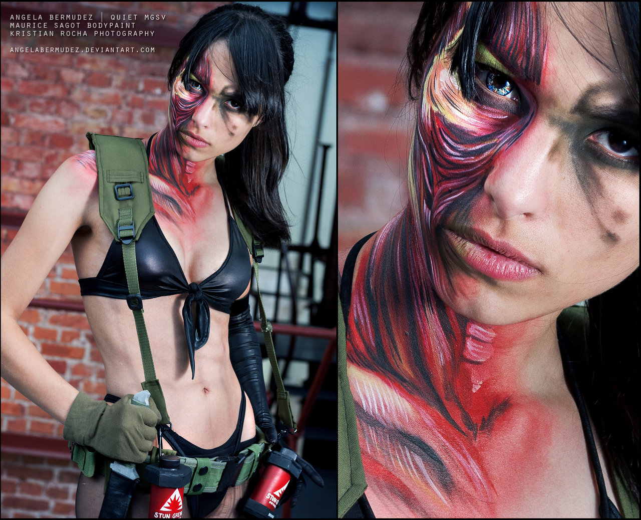 Quiet Cosplay Metal Gear Solid 5 Closeup Starring Angela Bermudez by Kristian Rocha Photography