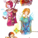Life Is Strange Fanart WoW World of Warcraft Guild of Arcadia Chloe the Hunter Max the Druid Kate the Priest Warren the Paladin Brooke the Mage by Mollifiable