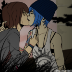 Life Is Strange Fanart Kissing Lesbians Max and Chloe by Marillie777