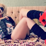 Harley Quinn Shermie Sexy Cosplay Play With Me Lets Have Fun In Bed Reading Comics