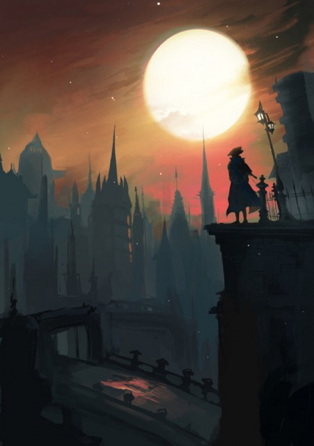 Bloodborne Fanart Beautiful Sunset Central Yharnham