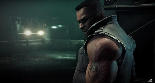 Final Fantasy VII Remake Barret Midgar Slums Ingame Cinematic PS4