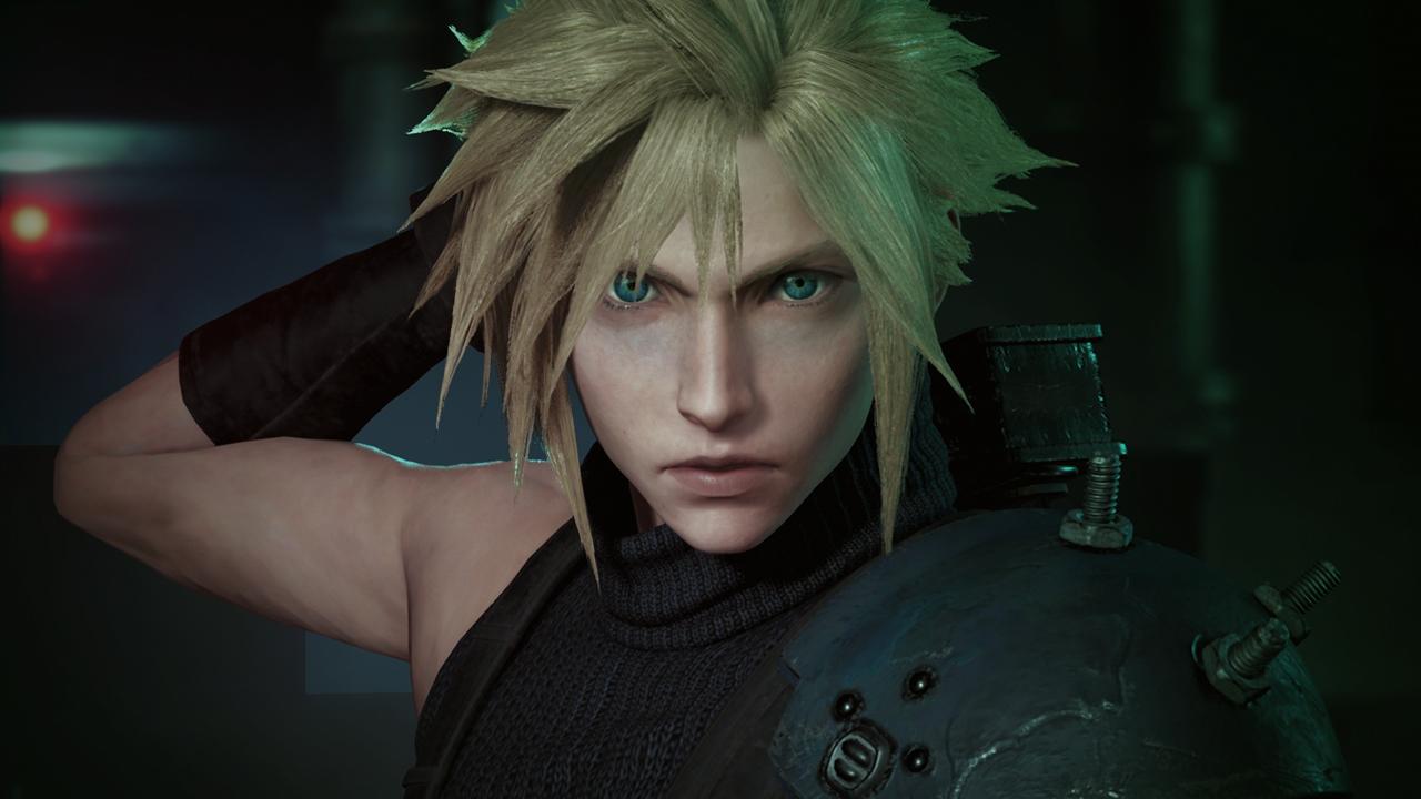 Final Fantasy VII Remake Cloud Strife Face Screenshot