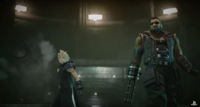 Final Fantasy VII Remake Moviescene Cloud Barret Ready to Fight PS4