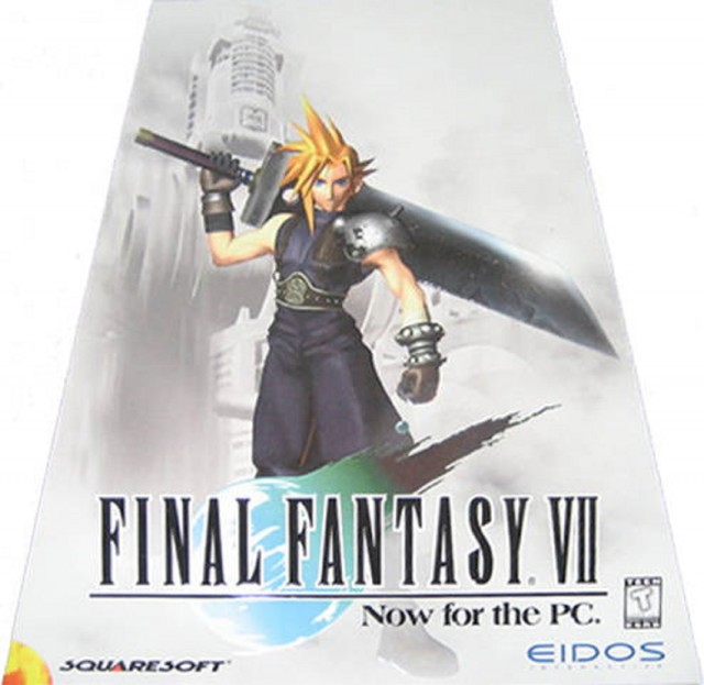 PC Final Fantasy VII Front USA Triangle Box Artwork