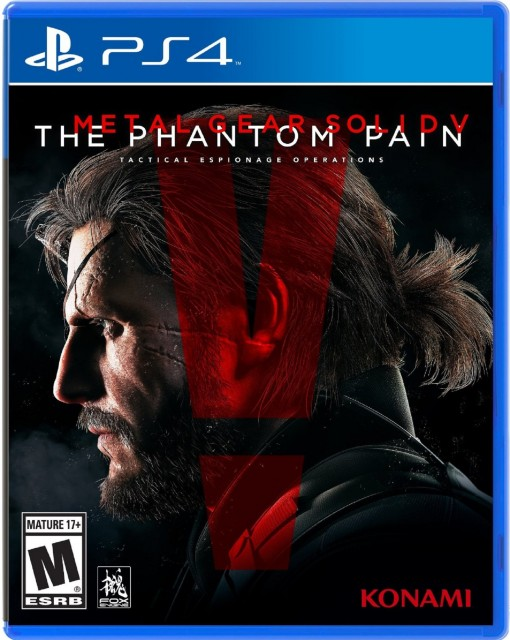 PS4 Metal Gear Solid V The Phantom Pain USA Box Artwork M For Mature