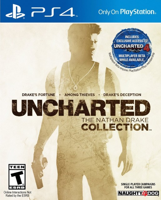 PS4 Uncharted the Nathan Drake Collection USA Box Artwork T for Teen