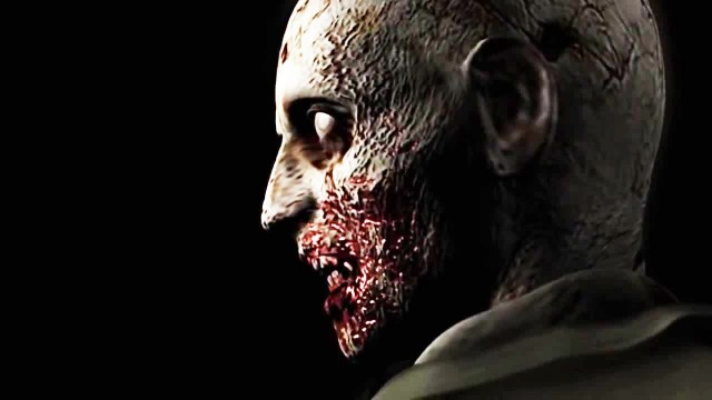 Resident Evil HD Remaster Iconic Zombie Head Turn Gameplay Screenshot