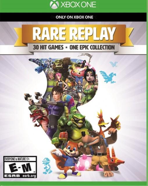 Xbox One Rare Replay USA Box Artwork E for Everyone T for Teen M for Mature