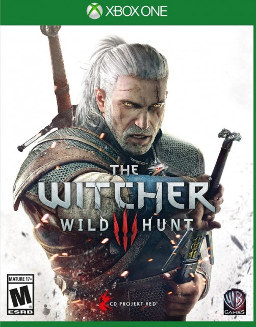 Xbox One Witcher 3 USA Box Artwork M for Mature
