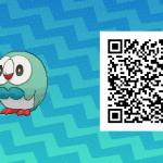 001 Pokemon Sun and Moon Shiny Rowlet QR Code