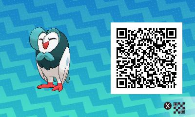 002 Pokemon Sun and Moon Shiny Dartrix QR Code
