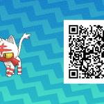 004 Pokemon Sun and Moon Shiny Litten QR Code
