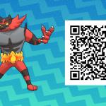 006 Pokemon Sun and Moon Incineroar QR Code