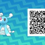 008 Pokemon Sun and Moon Brionne QR Code