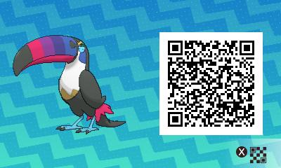 012 Pokemon Sun and Moon Shiny Toucannon QR Code