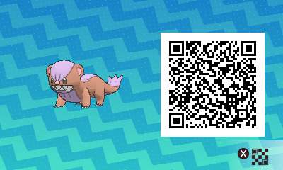 013 Pokemon Sun and Moon Shiny Yungoos QR Code