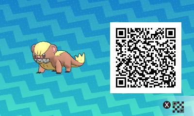 013 Pokemon Sun and Moon Yungoos QR Code