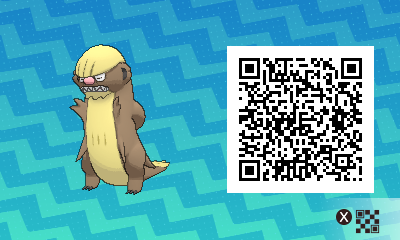 014 Pokemon Sun and Moon Gumshoos QR Code