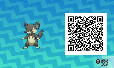 015 Pokemon Sun and Moon Alolan Rattata QR Code