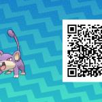 015 Pokemon Sun and Moon Female Rattata QR Code