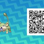 015 Pokemon Sun and Moon Shiny Female Rattata QR Code