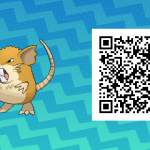 016 Pokemon Sun and Moon Female Raticate QR Code